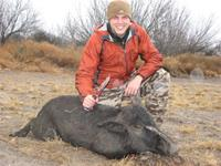 Meat Hog Hunts with professional hunting guide Dan Moody Hunting Services in Texas
