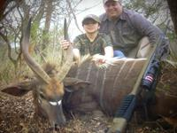 Nyala Hunts with professional hunting guide Dan Moody Hunting Services in Texas