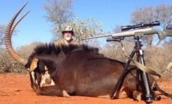 Sable Hunts with professional hunting guide Dan Moody Hunting Services in Texas