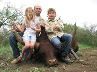 Watusi Hunts with professional hunting guide Dan Moody Hunting Services in Texas